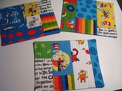 Dr Seuss mug rugs (oma Tam) Tags: robert dr seuss mat snack mug rug kona kauffman qayg