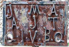 Letras de ferro / Iron Letters (Paulo Heitlinger, tipografos.net) Tags: portugal metal iron caps lettering versalien
