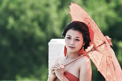 Sposa (Tommaso Petruzzi ) Tags: china travel wedding red portrait colors girl beauty face umbrella landscape asian temple nice eyes nikon asia chinese beijing hong kong wife cina cinese