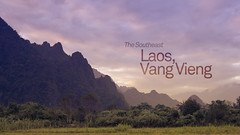 """""""The Southeast"""" Vang Vieng (//LeighGriffiths) Tags: travel sunset sky mountains clouds canon landscape photography asia heaven south culture jungle hillside cinematography laos geographic ef24105mm t2i canon550d"""