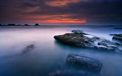 The Mythical Ocean [Explored] (eggysayoga) Tags: longexposure sunset sea seascape color beach water night sunrise landscape nikon cloudy hard tokina filter lee nd graduated gnd 1116mm d7000