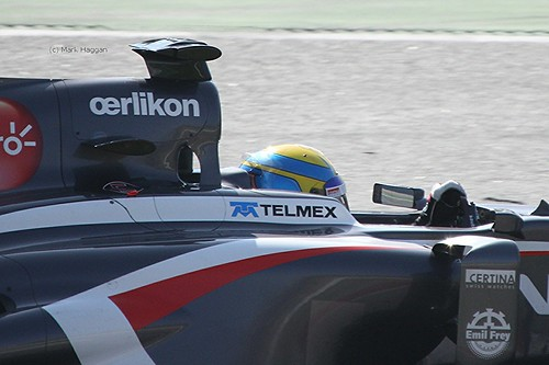 Esteban Gutierrez in his Sauber at Formula One Winter Testing, March 2013