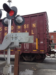 train delayed me on the way to town meeting (jessamyn) Tags: train vermont randolph traincrossing townmeeting randolphvt townmeetingday tmdvt townmeeting2013 tmdvt13 tmdvt2013