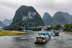 CRUCEROS POR EL RIO LI (Pablo O Palmeiro) Tags: china rio river li day cloudy guilin yangshuo   lijiang crucero