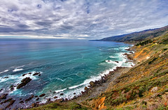 The Pacific Ocean (Dave Toussaint (www.photographersnature.com)) Tags: ocean california ca travel sea usa cloud flower nature water photoshop canon buzz landscape coast march photo interestingness interesting day photographer cs2 central picture bigsur hwy explore pch adobe sim hdr highdynamicrange adjust infocus pacificcoasthighway simplify littlesurriver 2011 lospadresnationalforest ventanawilderness