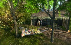 ...little hideaway at home... (lindini2) Tags: post shed secondlife hammock whisperingwind cheekypea l2studio