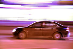 Day 58 of 365: NFS Cracow (Arek Olek) Tags: street city car night race speed lights moving high racing panning krakw cracow