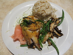 Miso butterfish, Nico's Pier 38 (Joel Abroad) Tags: fish mushroom miso restaurant seafood honolulu shiitake pickledginger nicos butterfish pier38 benishoga
