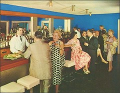 New Roxy Hotel Lounge, New York (1950sUnlimited) Tags: travel fun bars sightseeing restaurants leisure 1960s vacations inns midcentury lobbies lounges postcardes