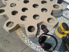 wood gear holes cog topgun woodworking mdf sanding sander dewalt cns orbitalsander twobit buttonwall gearprofile twobitcircus