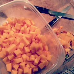 I Love Butternut Squash (Henry M. Diaz) Tags: food orange cooking kitchen square yum nashville spanish squareformat squash knives butternut iphoneography instagramapp uploaded:by=instagram