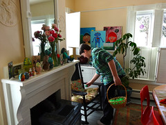indoor egg hunt (On Bradstreet) Tags: easter spring maine traditions rituals vernalequinox homeandgarden ostara march21 unschooling onbradstreet secularpagan
