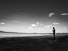Lost In Thought (Ragavendran / Rags) Tags: blackandwhite clouds dark lost alone thoughts thinking lonely chennai tamilnadu allalone darkphotography chengalpattu feelinglost deepinthoughts ragavendran