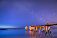 Milky Way @ Ocean Grove NJ (Michael Ver Sprill) Tags: ocean new longexposure sky beach mike water beautiful night sunrise dark michael pier newjersey sand nikon grove sandy explorer nj award shore jersey bluehour jerseyshore fishingpier mv d800 lightroom milkyway oceangrove flickraward bestcapturesaoi versprill wwwmikeversprillcom hurricanesandy