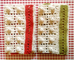 Crochet Kitchen Towels (Mellie Blossom) Tags: kitchen dish handmade crafts crochet tags yarn dishcloth cotton popcorn dishtowel handtowel