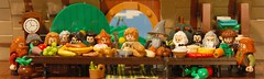 the Last Supper - Hobbit Edition (Legopard) Tags: last lego jesus twist parody lordoftherings supper hobbit eastern bilbo hobbiton bagend dwarfes legopard mocathalon