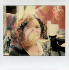Piñata Jess (tobysx70) Tags: the impossible project tip color film for image spectra 1200 cameras gen2 double exposure impossaroid piñata jess loteria grill hollywood blvd boulevard los angeles la california ca portrait woman mexican restaurant wishbone necklace polawalk 071716 toby hancock photography