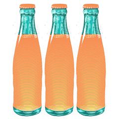 Orange Soda (scratchmark) Tags: orange soda illustration linocut bottle retro crush welchs sunkist fanta zingo shasta orangina