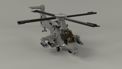 Medium Attack Helicopter Render (Quogg) Tags: lego helicopter attack chopper heli ground stealth model apache comanchee ah