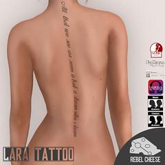 Lara Back ((Natasha) wwwhoi.andel) Tags: sl second life secondlife tat tatt tattoo ink female lara maitreya slink omega belleza wrist back chest sternum
