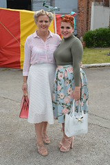 Two lovely ladies at Hooton Park (masimage) Tags: hootonpark hooton park 1940s weekend 2016 wartime ww2 wwii soldier army navy raf usarmy jive dance thevictorygirls victorygirls victory girls belladonnabrigade belldonna brigade singers ensa vintage britain 40s reenactment reenactor