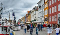 Nyhavn City Life (SMSidat) Tags: kbenhavn capitalregionofdenmark denmark dk city nyhavn citylife copenhagen harbour boats harbor boat