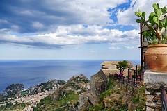 Panorama da Castelmola (Marco Crupi Visual Artist) Tags: sicilia siciliano sicily mare sea landscape landscapes paesaggio paesaggi sky cielo fotografia lumixtz100 lumix tz100 panasonic taormina isolabella