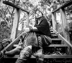 naomi160829-016 (Naomi Creek) Tags: 52picturesofme selfportrait blackandwhite bw stairs nature thoughtful discovery personal portraiture canon sx60