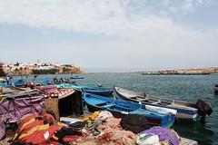 Facing cities, port of Rabat (gizembilim) Tags: sea city rabat morocco
