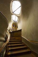 Casa Batll (Nacho Herrera) Tags: barcelona catalunya espaa spain architecture stairs arquitectura escaleras modernismo gaudi batllo