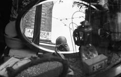 Me (DanRSmith) Tags: bw blackandwhite monochrome street self reflection people hastings oldtown 35mm pentaxsmcm50mmf17 pentaxme fomapan400 rodinal
