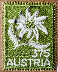 great stamp Austria 375c Edelweiss, Leontopodium alpinum, L'edelweiss, stella alpina dell'Appennino, 高山火絨草, havasi gyopár, Эдельве́йс альпи́йский (Stickgarn-Briefmarke, stamp of embroidery thread) timbre Autriche sellos Austria selos porto francobollo (stampolina, thx ! :)) Tags: österreich postage stamps sellos selos briefmarken porto franco francobolli timbres postzegel postes selodecorreio sellodecorreo frimaerke oostenrijk zegels antspaudai frimerker znaczki znamk pulları แสตมป์ markas postestimbres timbru postapulu pulu timbresposte edelweis edelweiss leontopodiumalpinum ledelweiss stellaalpinadellappennino 高山火絨草 havasigyopár эдельве́йсальпи́йский stickgarn stamp embroiderythread flower blume fleur stickerei original grün green verde weis white