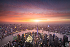 Sky eye (/DoveLee/LiGe) Tags: shanghai china night sunset cloud skyline urban city architecture lujiazui asia cityscape light