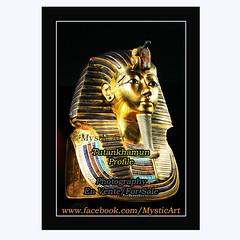 Tutankhamun Profile (Mystic Art *) Tags: tutankhamun pharaoh profile egypt pyramid symbols symbol light night moon dream magic