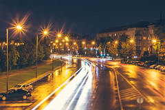 Street Lights | Kaunas #236/365 (A. Aleksandraviius) Tags: street lights traffic cars raining rain kaunas lietuva lithuania nikon lensbaby composer pro edge80 edge80optic 80mm lensbaby80 nikond810 d810 365days 3652016 365 project365 236365