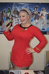 BelleChere in Star Trek dress at Boston Comic Con 2016 (FranMoff) Tags: costume costumer bostoncomiccon startrek flickr cosplay bellechere reddress cosplayer 2016 yeoman bostoncomiccon2016