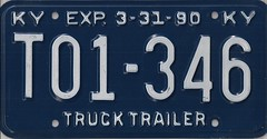 T01-346 (JohnathanBaker) Tags: kentucky license plate truck trailer