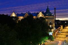 Vaasa by night (karolinaskaos) Tags: finland vasa vaasa suomi summer autumn sommar hst fall night view city lights longexposure sky colours architecture