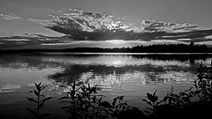 You should see it in colo(u)r !! (Bob's Digital Eye) Tags: bw blackandwhite bobsdigitaleye canon canonefs1855mmf3556isll clouds flicker flickr laquintaessenza monochrome silhouette sunset sunsetsoverwater t3i