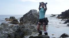 Shooting Lara Croft - Calanque du Mont Salva - Six Fours les Plages - 2016-08-11- P1500453 (styeb) Tags: shoot shooting lara croft 2016 aout 11 calanque mont salva sixfourslesplages t