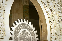 One of the intricate doors that lead the way into the Hassan II Mosque, Casablanca (Jonmikel & Kat-YSNP) Tags: casablanca morocco march 2007