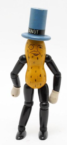 1930's Mr. Peanut Advertising Painted Wooden Jointed Figure ($67.50)