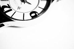 Half Time (Robin Penrose) Tags: 201609half 7daysofshooting week11 halfasgood macromonday blackwhite white black time watchface 9 12 bright brightwhite heartofdarkness lr4