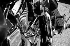 Honda Shadow Self-Portrait (Jade Chanoquaway) Tags: nikon nikkor d5500 blackandwhite black white grey gray grayscale greyscale bw contrast light shadow monochrome silhouette shadows outdoor outside outdoors sun sunlight sunshine machinery machine machines cement concrete pavement asphalt honda motorcycle bike engine tire reflection reflections portrait chrome shiny shine shining footpeg footrest wheel chopper cruiser exhaust people faring september autumn fall texture pattern patterns canada ontario
