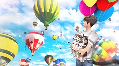 [] the flying puppers: sky's the limit (taeeetae) Tags: second life secondlife slife sl secon sec art sky balloons baloon baloons pups puppers puppy pupp dog doge dogs color colour colorful clouds clear blue
