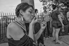 Roxborough-Night Market, 2016 (Alan Barr) Tags: philadelphia 2016 roxborough ridgeave street sp streetphotography streetphoto blackandwhite bw blackwhite mono monochrome candid people group fujifilm x70