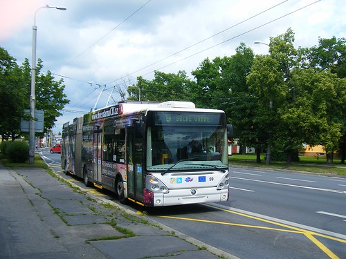 Ceske Budejovice trolleybus No. 59