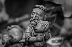 Father and wood (martiedac) Tags: blackandwhite dad father fatherhood italy love pinocchio pinocho wood