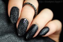 glitter_powder_nail_art_2 (-Yue) Tags: approved nails nail art rhinestones black glitter manicure