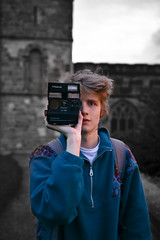 Selective Colour Portrait in Durham (ben_thedriver) Tags: portrait raw eos60d eos 60d canon contrast naturallight natural 1835mm sigma 18 filmlook film filmic sharp durham dusk durhamcathedral cathedral sun sunset polaroid england quiet walking autumn summer night nightphotography late hour golden goldenhour vignette constant constantlight colour orange saturated wide selectivecolour color